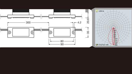 osram オスラム 光源から板面までの距離80~220mm